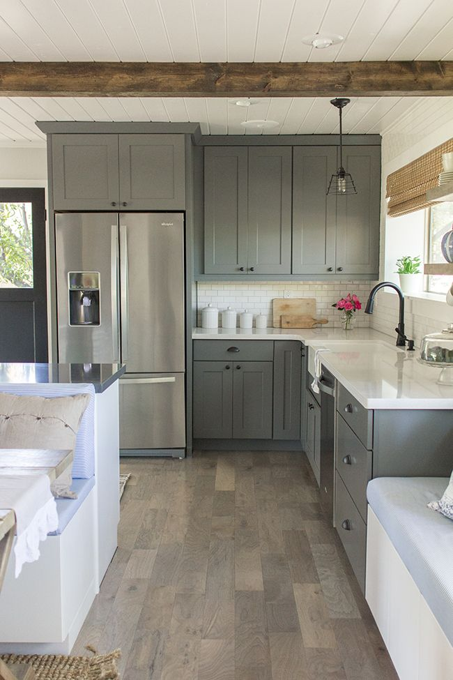 Gray Kitchen Cabinets & How to Update a Kitchen for $300 \u2022 Our Storied Home