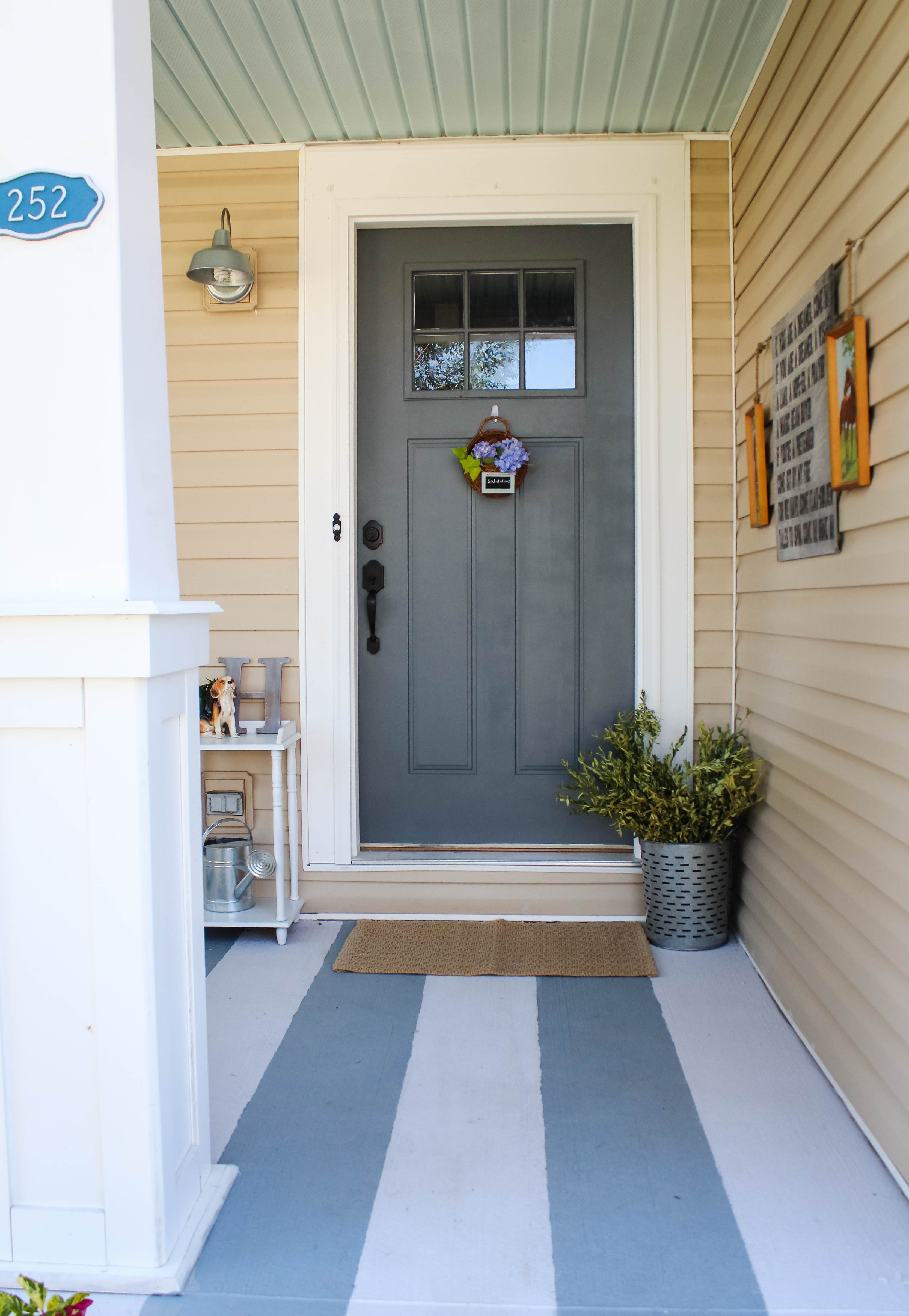 How To Hang Decor On Vinyl Siding Our Storied Home