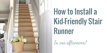 Install A Stair Runner Painted Stairs For Under $50 ...