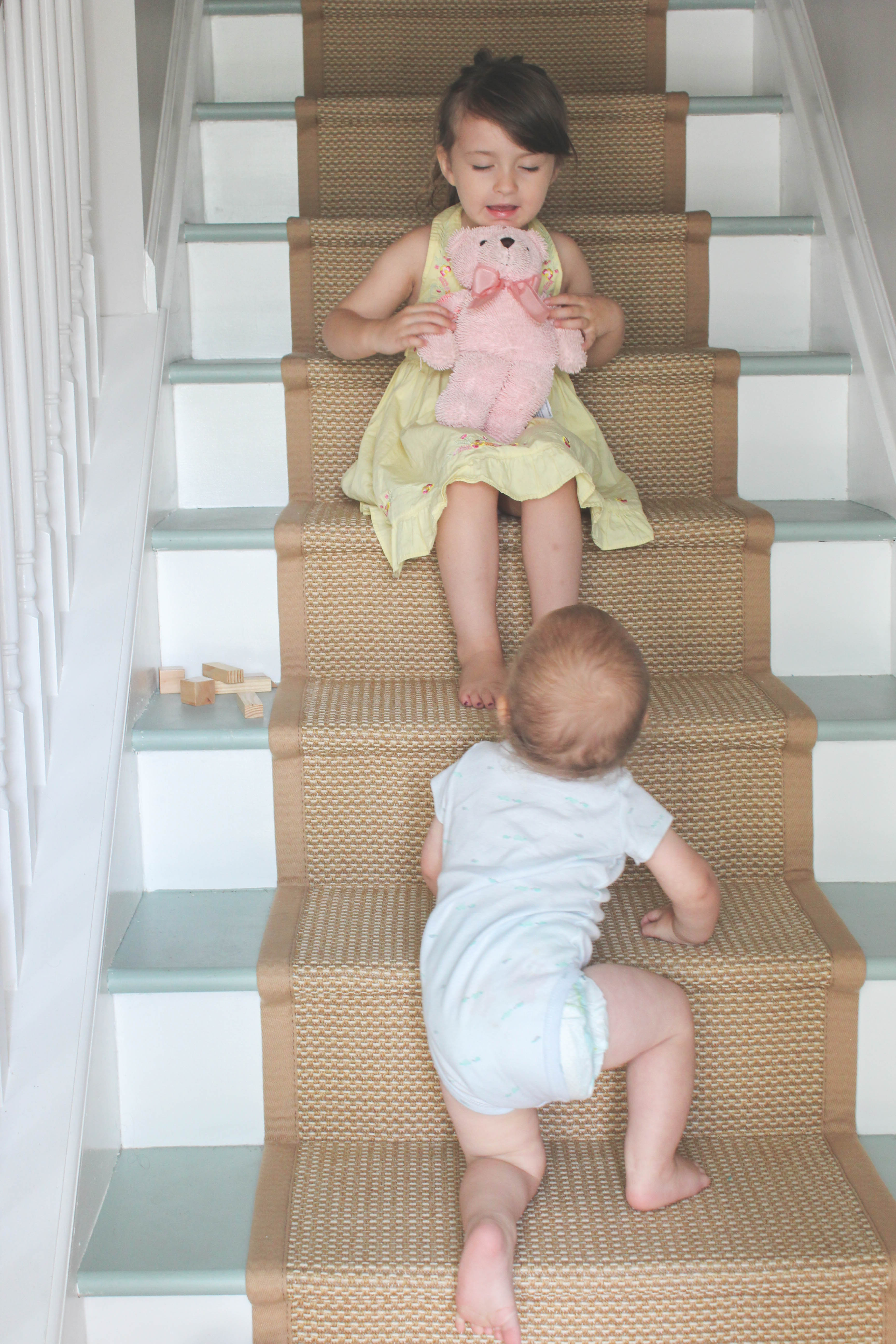 How To Install A Kid Friendly Stair Runner Our Storied Home