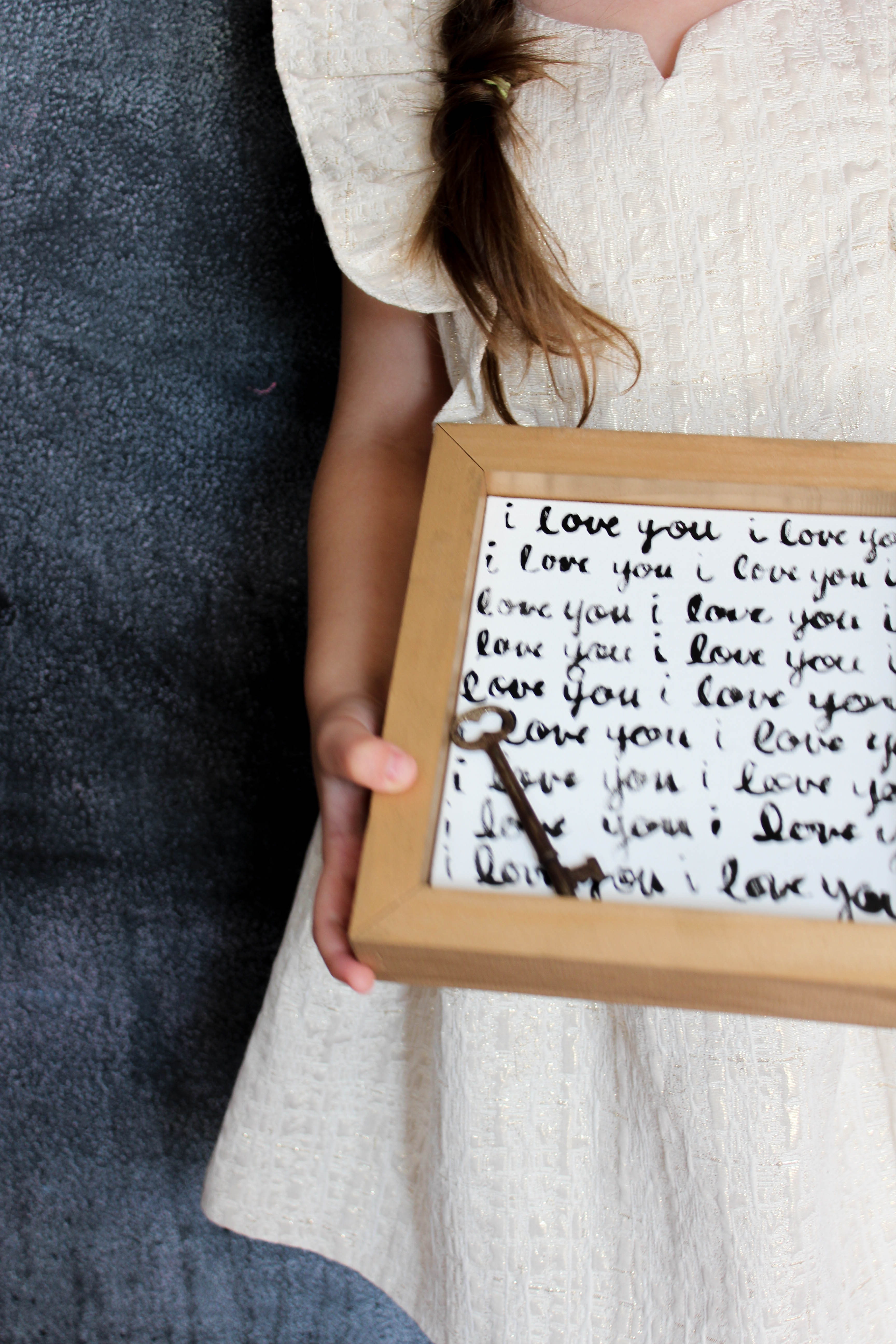 Diy Love Letter Wall Art Our Storied Home