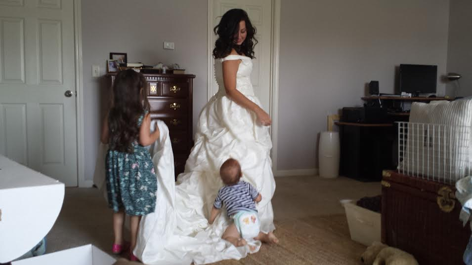 Try your wedding dress on for your kids