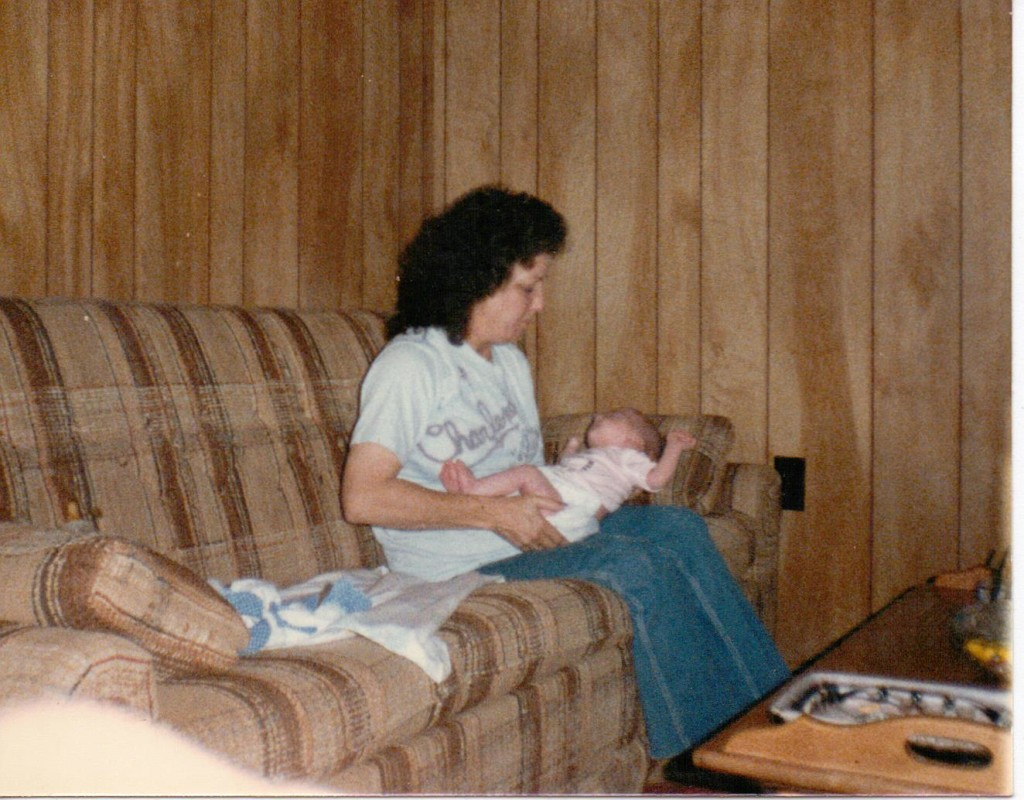 My grandma holding me as a baby.