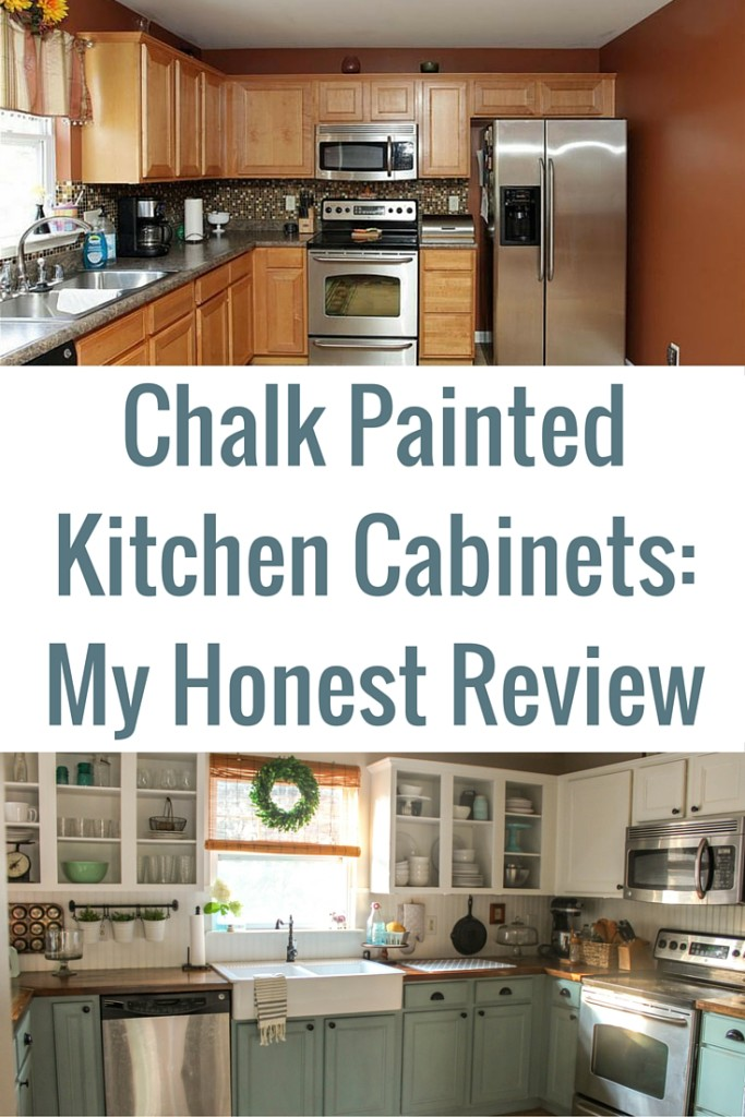 chalk painted kitchen cabinets - two years later - our storied home