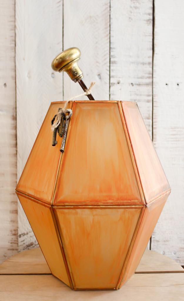 upcycled pumpkin lantern