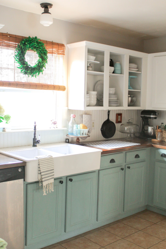 Chalk Painted Kitchen Cabinets  Years Later - Our Storied Home