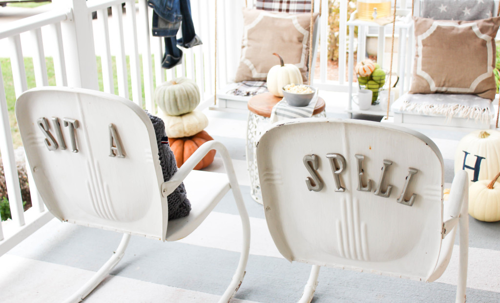 Vintage Metal Rocking Chairs