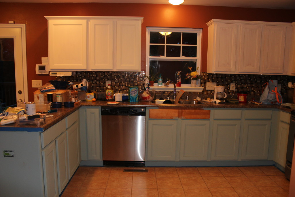 Chalk Paint On Kitchen Cabinets chalk painted kitchen cabinets: 2 years later  our storied home