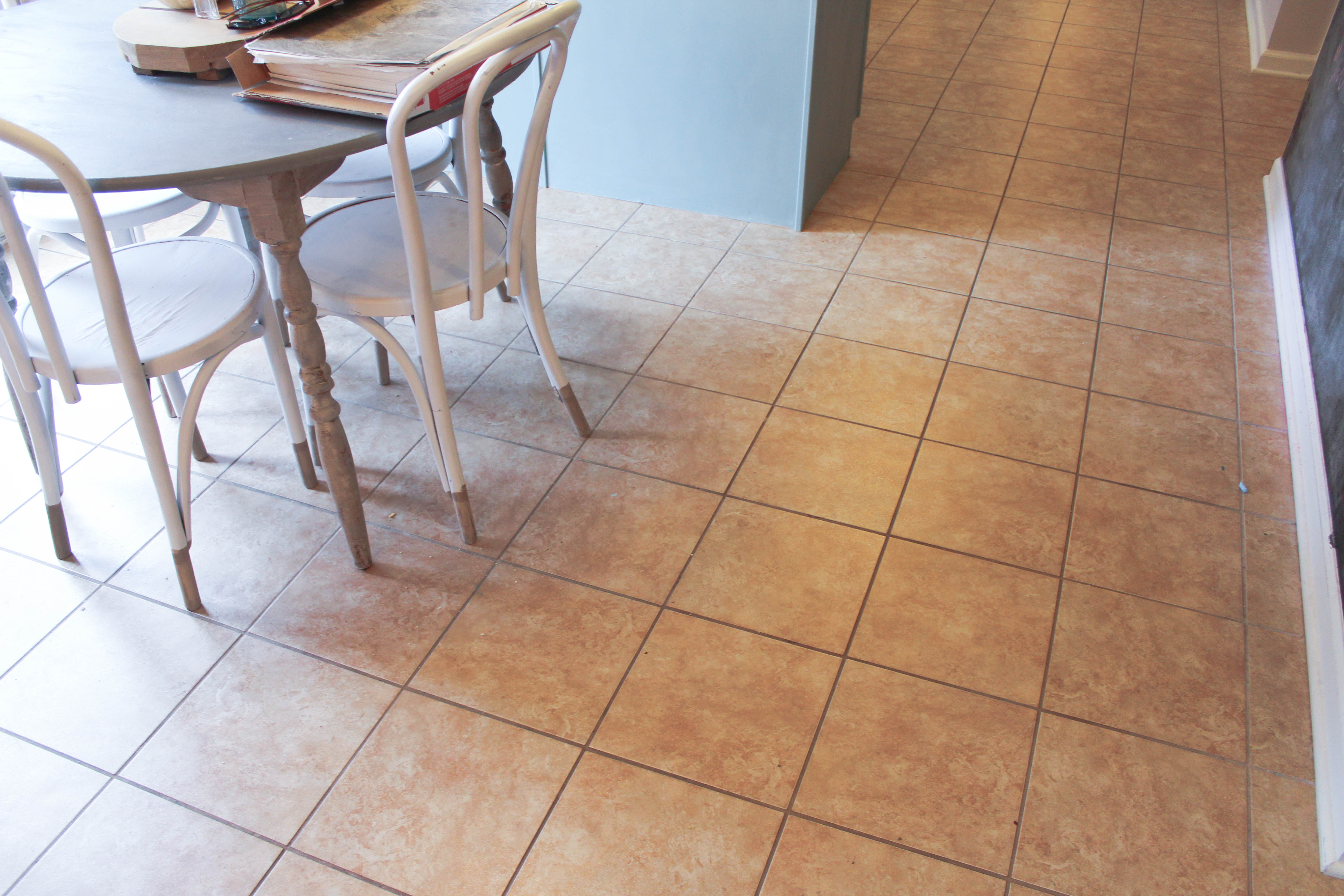 How to tile over existing floor tiles