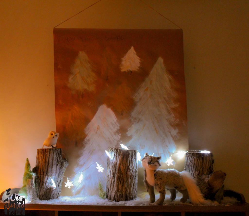 Woodland Christmas Scene