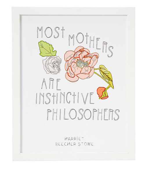 Most Mothers Are Instinctive Philosophers Print