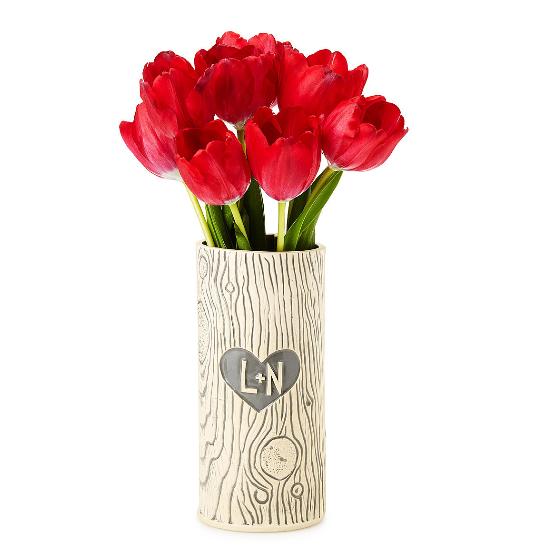 Personalized Faux Bois Vase