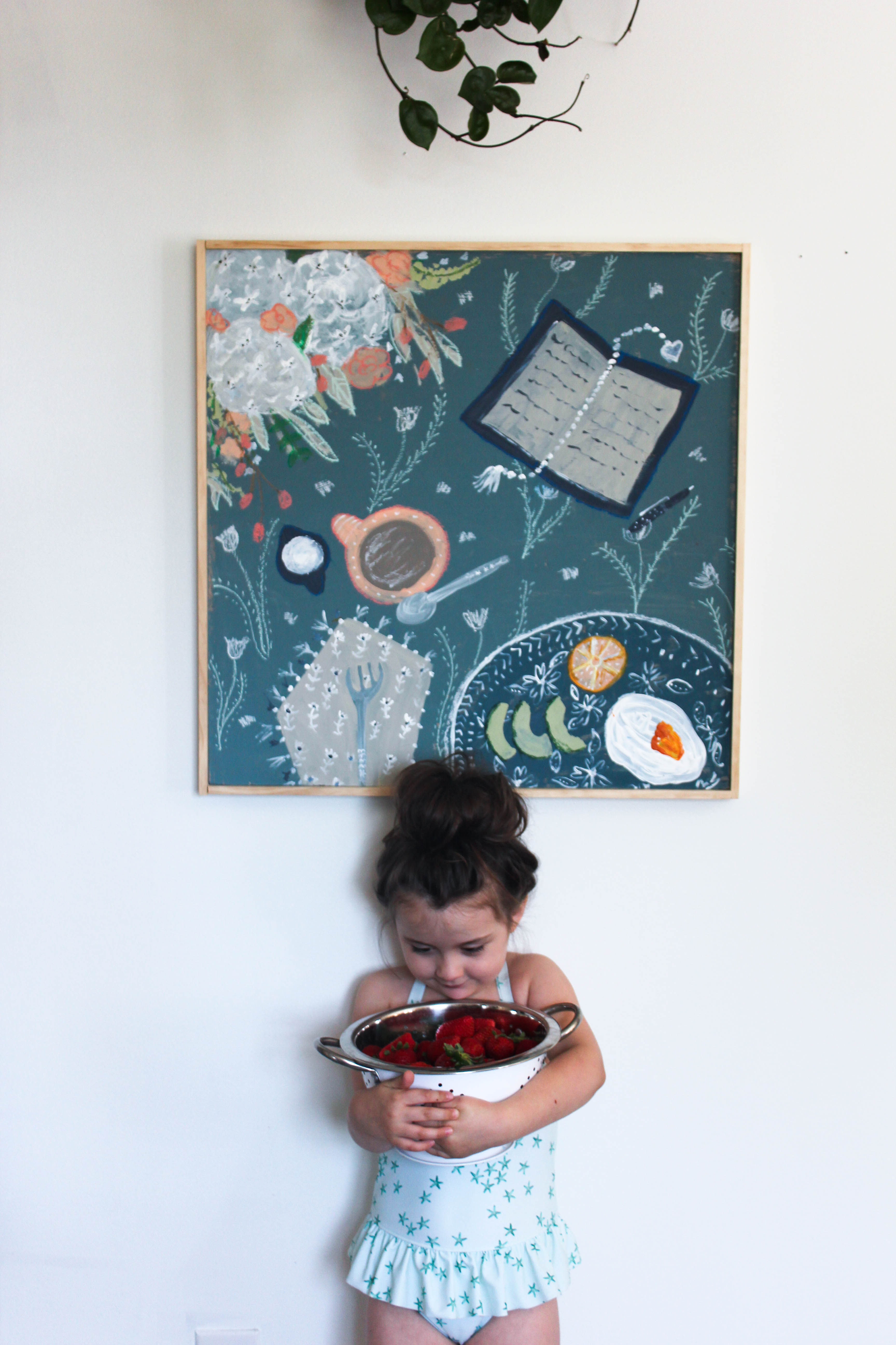 Our Storied Home Tablescape Painting