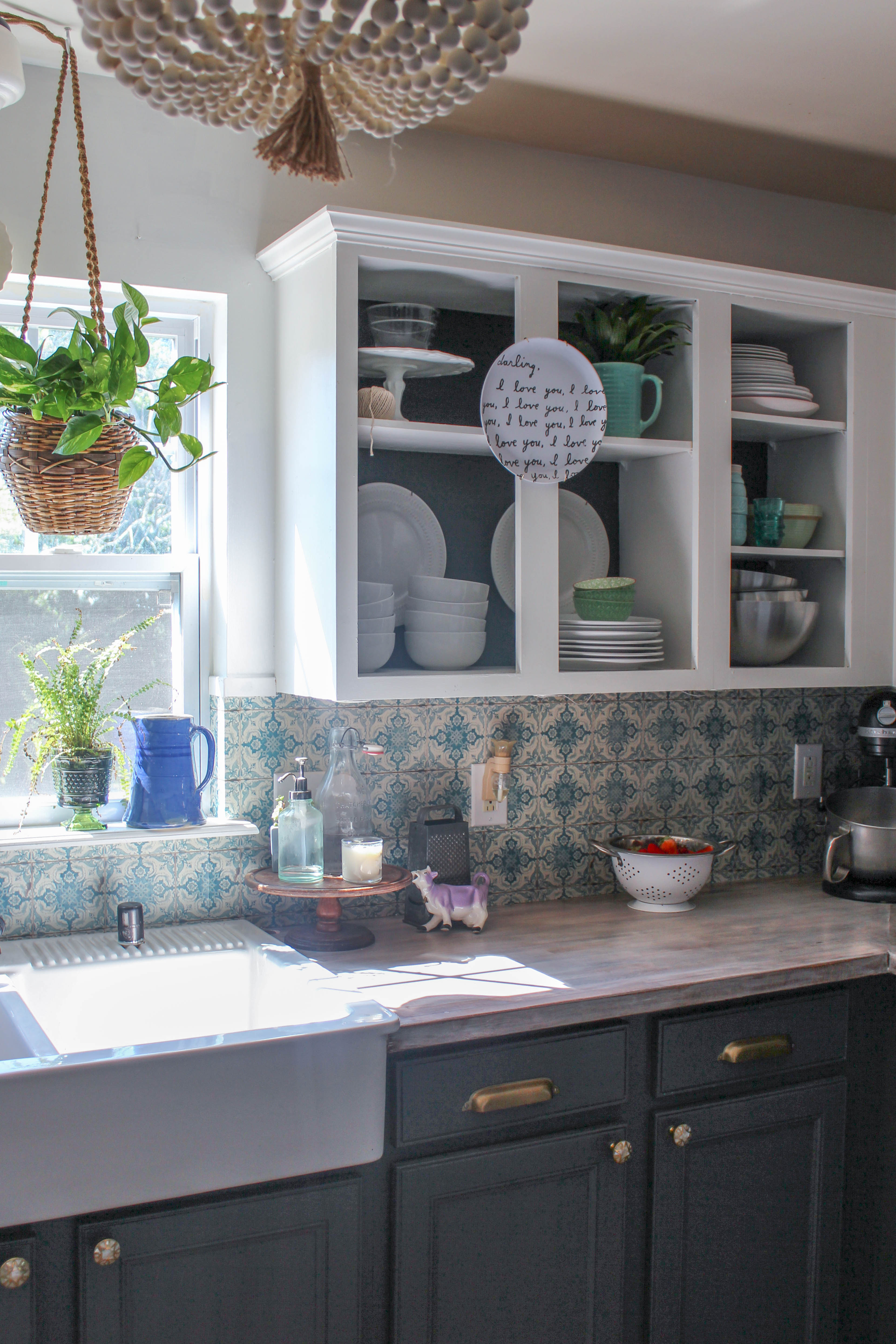 Our Storied Home Chalk Painted Kitchen Cabinets