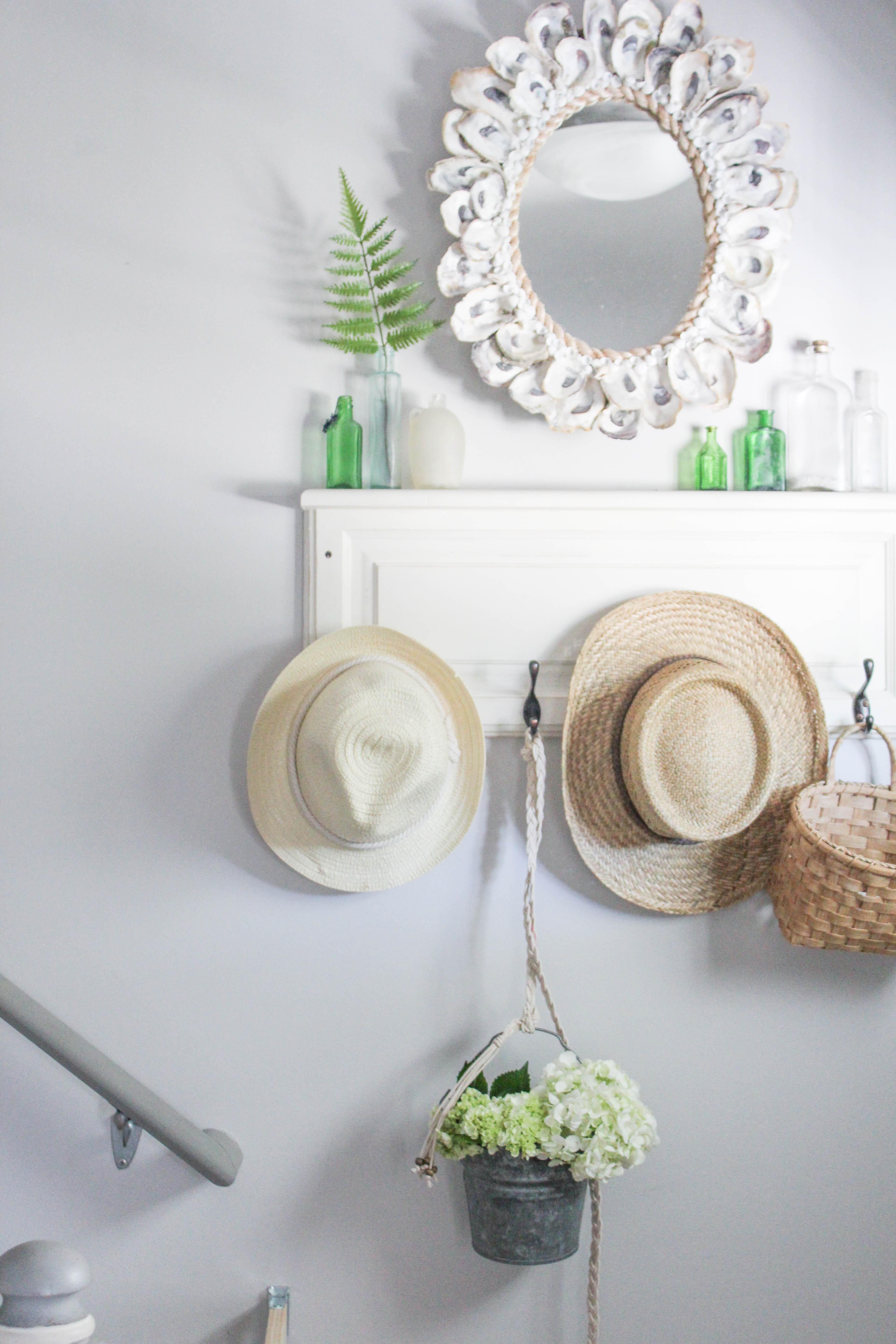 Our Storied Home Repurposed Cabinet Door Coat Rack