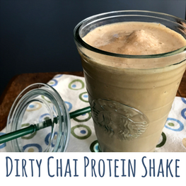 dirty chai protein shake