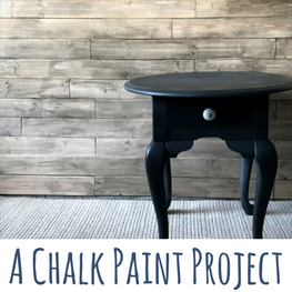 chalk paint end table