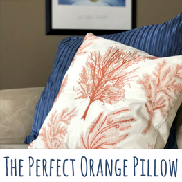 perfect orange pillow