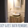 DIY guest bath remodel