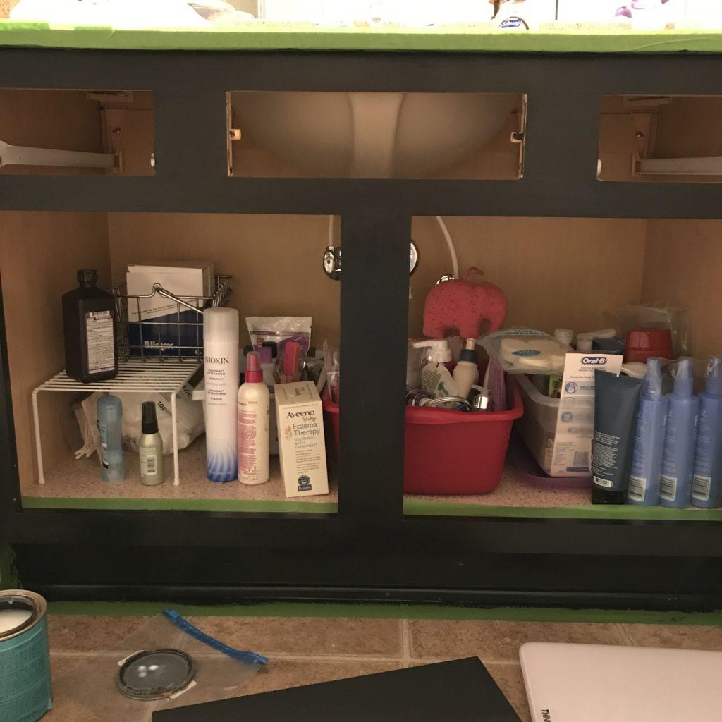 chalk paint bathroom vanity