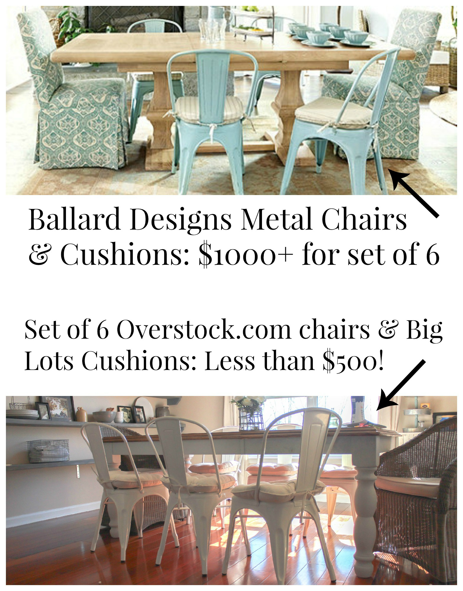 Metal Cafe Chairs For Designer Look At Half The Price