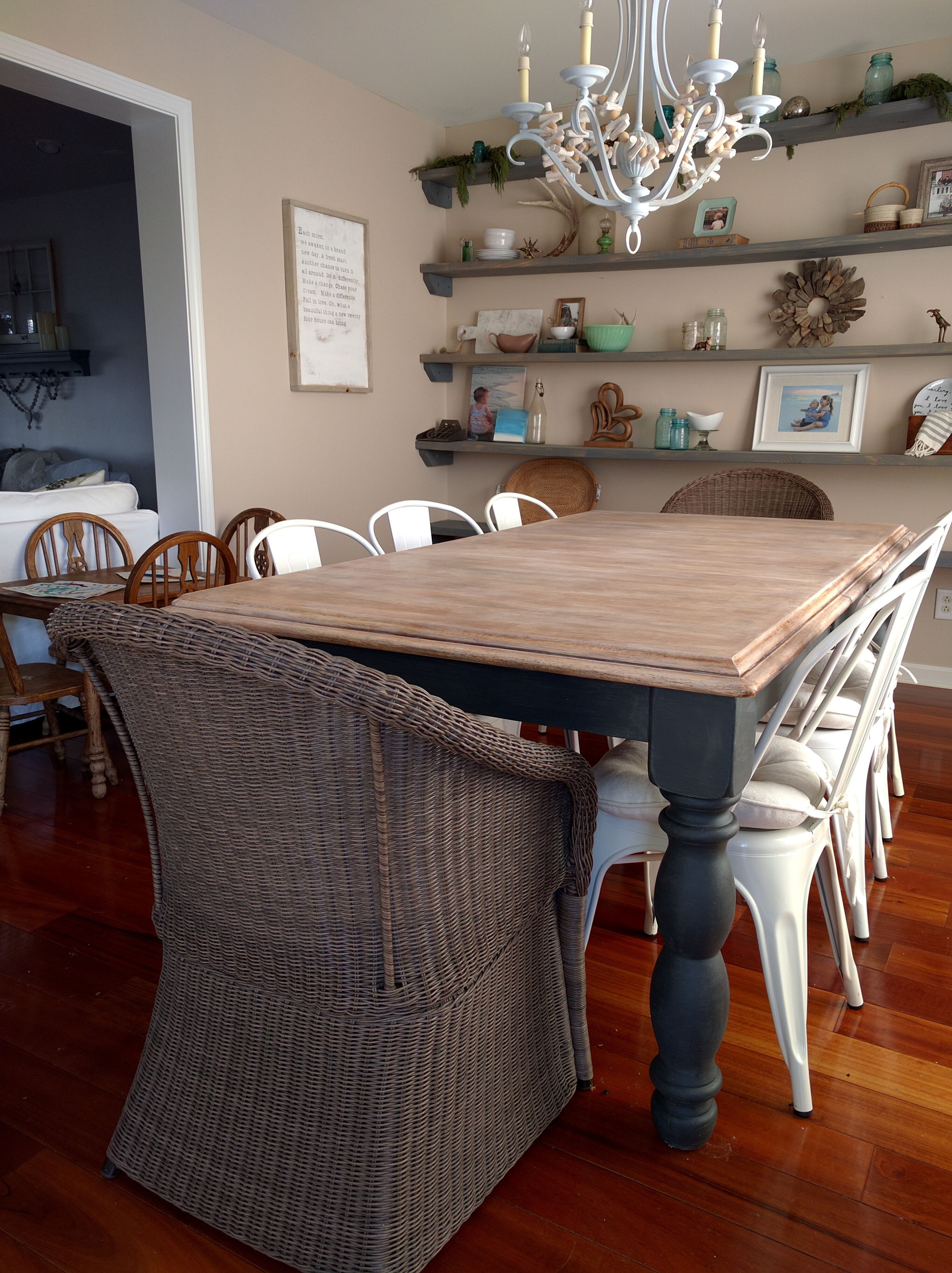 Limewash Dining Table Makeover