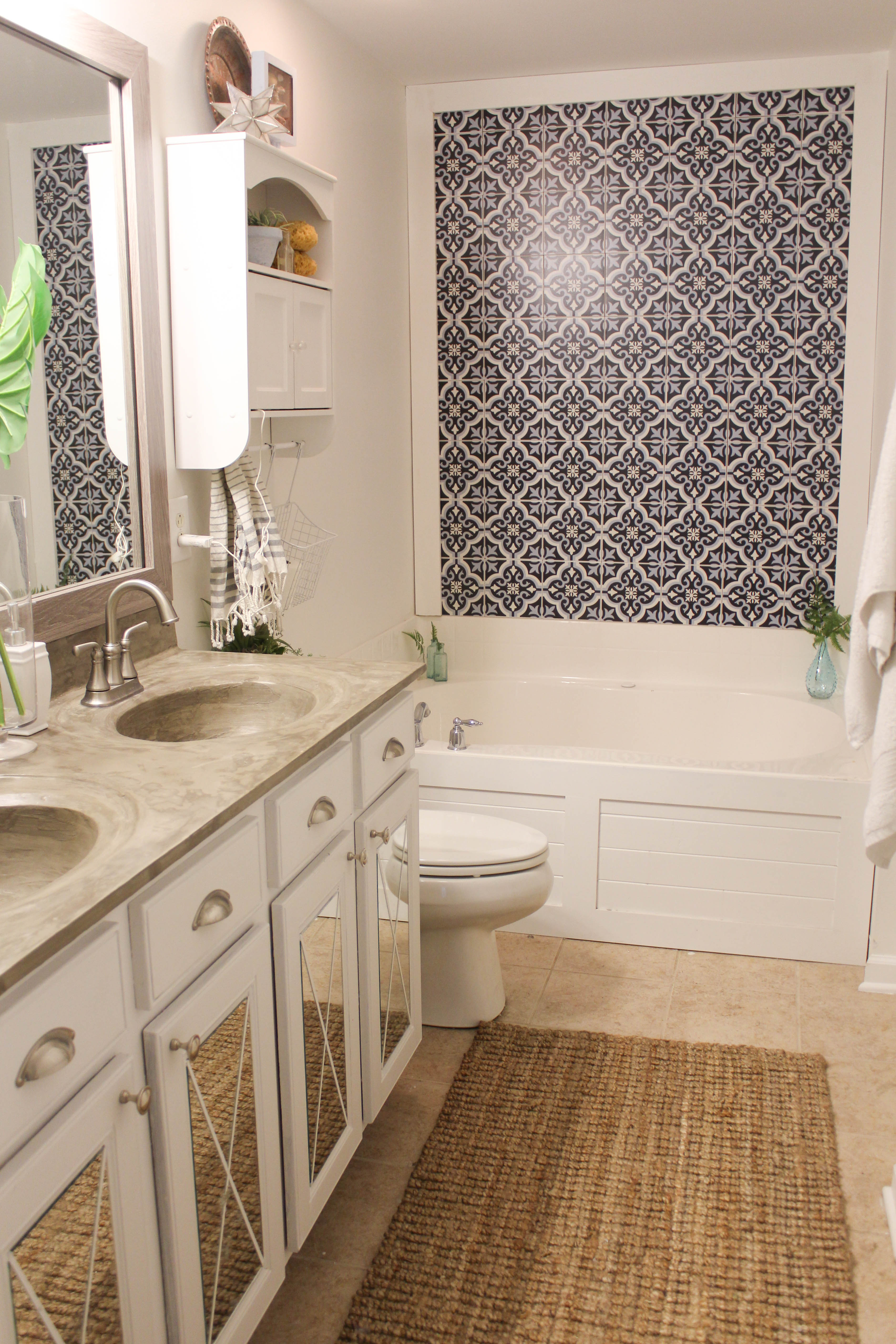 Fabulous How to Install a Driftwood Frame Over Your Builder-Basic Bathroom  NP09
