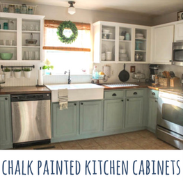 Chalk Painted Kitchen Cabinets -- Two Years Later - Our Storied Home